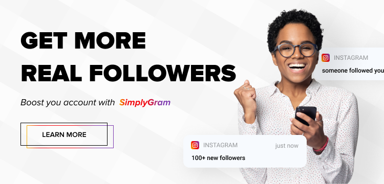 real instagram growth banner image